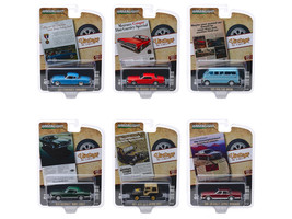 Vintage Ad Cars Series 2 6 piece Set 1/64 Diecast Model Cars Greenlight 39030