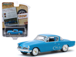 1953 Studebaker Commander Blue Exciting New 1953 Studebaker Receives Fashion Academy Award Vintage Ad Cars Series 2 1/64 Diecast Model Car Greenlight 39030 A