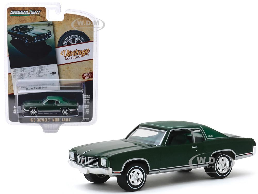 1970 Chevrolet Monte Carlo   2-Tone Green*** Greenlight Ad Cars 1:64 NEU+OVP