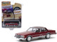 1986 Chevrolet Caprice Brougham Burgundy Dark Burgundy Top The Uncompromised American Classic Vintage Ad Cars Series 2 1/64 Diecast Model Car Greenlight 39030 F