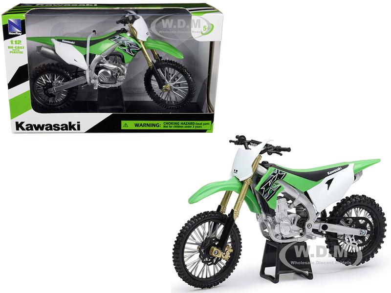 Kawasaki KX 450F Green 1/12 Diecast Motorcycle Model New Ray 58103