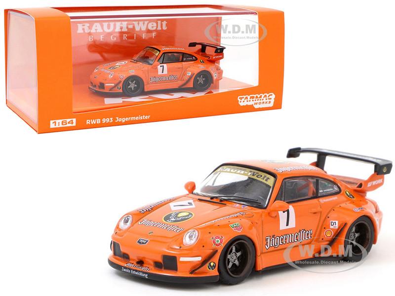 Porsche 993 RWB #7 Jagermeister RAUH-Welt BEGRIFF 1/64 Diecast Model Car Tarmac Works T64-017-JA