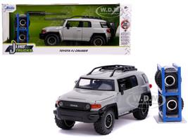Toyota FJ Cruiser Roof Rack Gray Extra Wheels Just Trucks Series 1/24 Diecast Model Car Jada 31557