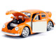 1959 Volkswagen Beetle Orange Cream Bigtime Kustoms 1/24 Diecast Model Car Jada 99019