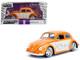 1959 Volkswagen Beetle Orange Cream Bigtime Kustoms 1/24 Diecast Model Car Jada 99019