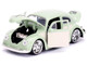 1959 Volkswagen Beetle Light Green Cream Bigtime Kustoms 1/24 Diecast Model Car Jada 99020