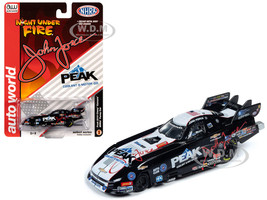 2019 Peak Chevrolet Camaro NHRA Funny Car John Force Night Under Fire John Force Racing 1/64 Diecast Model Car Autoworld AWSP035