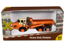 Heavy Duty Dumper Truck Orange TraxSide Collection 1/87 HO Scale Diecast Model Classic Metal Works TC101 A