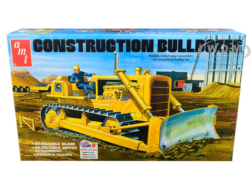 Skill 3 Model Kit Construction Bulldozer 1/25 Scale Model AMT AMT1086