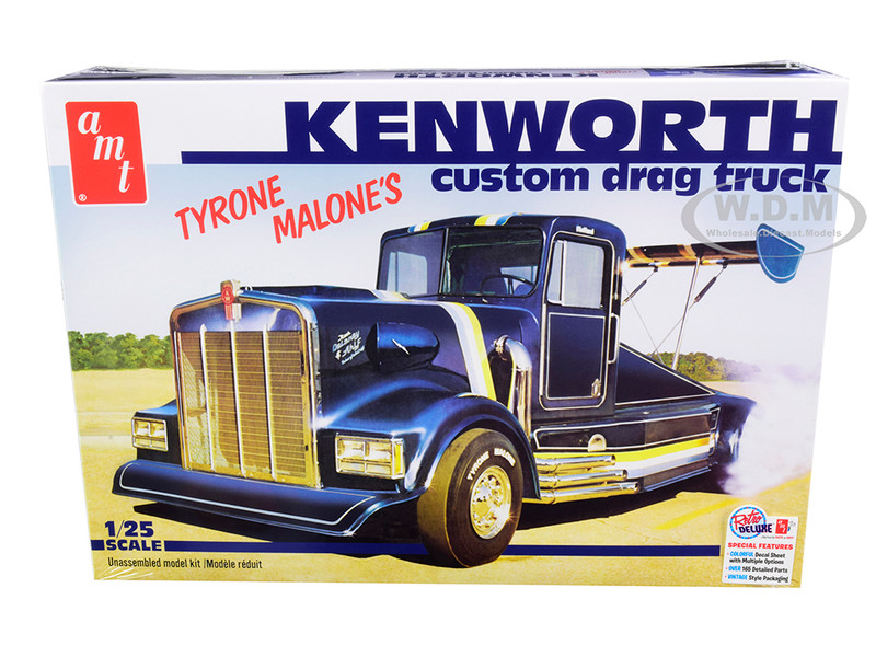 Skill 3 Model Kit Tyrone Malone's Kenworth Custom Drag Truck 1/25 Scale Model AMT AMT1157