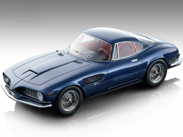 1962 Ferrari 250 GT SWB Bertone Dark Blue Metallic Red Interior Mythos Series Limited Edition 100 pieces Worldwide 1/18 Model Car Tecnomodel TM18-103 B