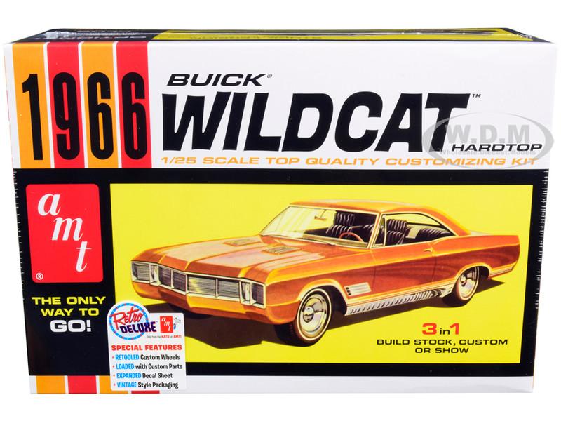 Skill 2 Model Kit 1966 Buick Wildcat Hardtop 3 in 1 Kit 1/25 Scale Model AMT AMT1175