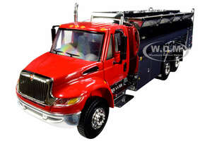 International DuraStar Liquid Fuel Tank Truck Viper Red Chrome 1/50 Diecast Model First Gear 50-3433