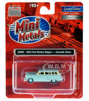 1953 Ford Station Wagon Cascade Green 1/87 HO Scale Model Car Classic Metal Works 30580