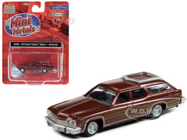 1974 Buick Estate Wagon Burgundy Metallic Woodgrain Sides 1/87 HO Scale Model Car Classic Metal Works 30588