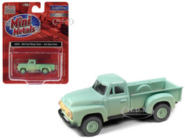 1954 Ford Pickup Truck Sea Haze Green Dirty Weathered 1/87 HO Scale Model Car Classic Metal Works 30593