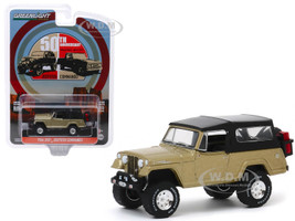 1966 Jeep Jeepster Commando Gold Metallic Black Top Moab Utah April 2017 50th Anniversary Anniversary Collection Series 10 1/64 Diecast Model Car Greenlight 28020 E