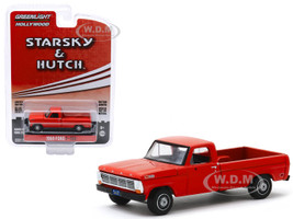 1969 Ford F-100 Pickup Truck Red Starsky and Hutch 1975 1979 TV Series Hollywood Series Release 27 1/64 Diecast Model Car Greenlight 44870 B
