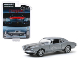 1967 Chevrolet Camaro Gray Metallic Black Stripes Buddy Repperton's Christine 1983 Movie Hollywood Series Release 27 1/64 Diecast Model Car Greenlight 44870 C