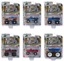 Kings of Crunch Series 6 Set of 6 Monster Trucks 1/64 Diecast Model Cars Greenlight 49060
