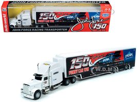 2019 Freightliner Trailer John Force 150th Funny Car Win Transporter 1/64 Diecast Model Autoworld AWSP031