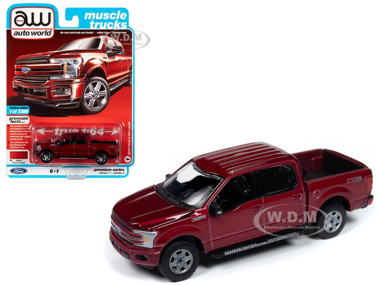 AUTOWORLD MUSCLE CARS PREMIUM 2020 RELEASE 3 6 PC SET 1//64 BY AUTOWORLD 64262 B