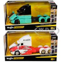 Mack Anthem Trucks Custom Rigs Set of 2 pieces 1/64 Diecast Models Maisto 12389