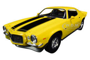 1971 Chevrolet Camaro Yellow Black Stripes 1/18 Diecast Model Car Maisto 31131