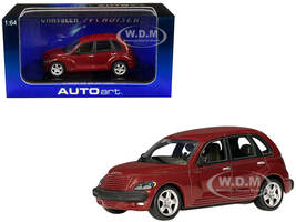 2001 Chrysler PT Cruiser Dark Red Metallic 1/64 Diecast Model Car Autoart 20062