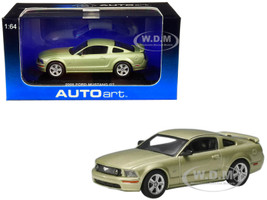 2005 Ford Mustang GT Legend Lime Green Metallic 2004 Auto Show Version 1/64 Diecast Model Car Autoart 20301