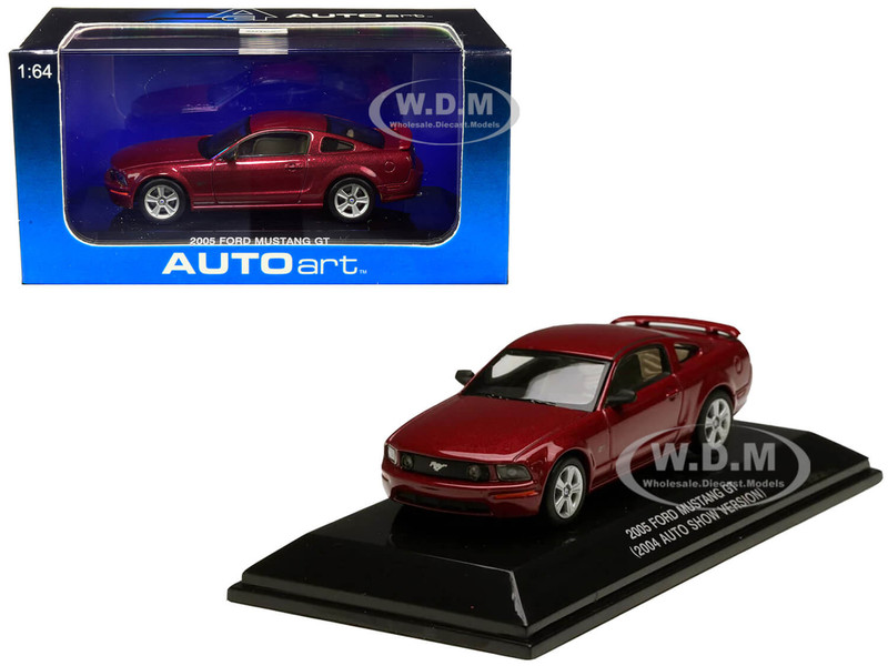 2005 Ford Mustang GT Red Fire Metallic 2004 Auto Show Version 1/64 Diecast Model Car Autoart 20302