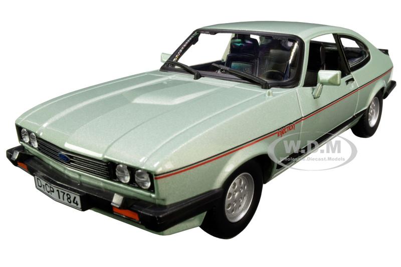 1973 Ford Capri Light Green Metallic 1/24 Diecast Model Car Bburago 21093