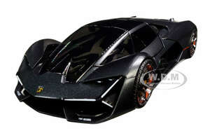 Lamborghini Terzo Millennio Dark Gray Metallic Black Top Carbon Accents 1/24 Diecast Model Car Bburago 21094
