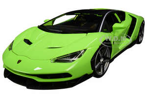 Lamborghini Centenario Lime Green with Matt Black Top 1/18 Diecast Model Car by Maisto 31386grn