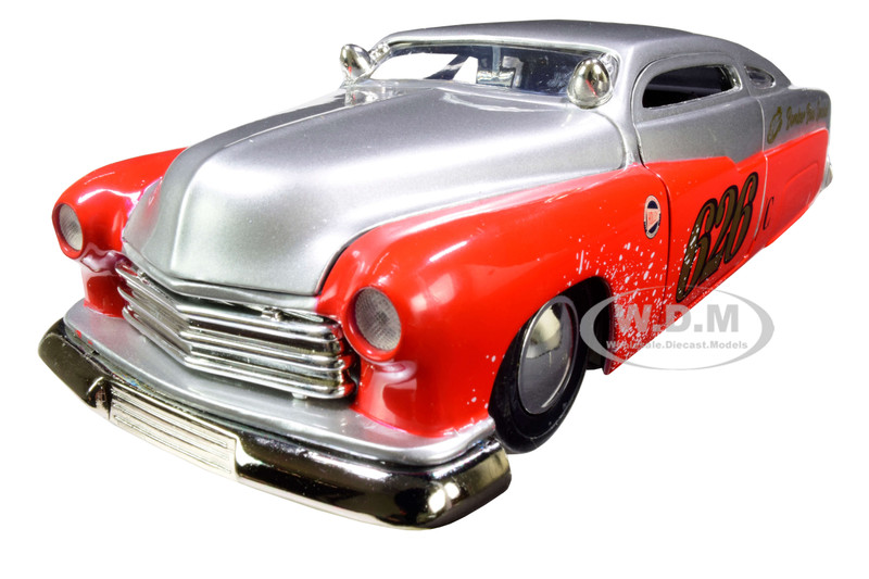 1951 Mercury Silver Red #626 Holley Bomber Bros Special Bigtime Muscle 1/24 Diecast Model Car Jada 31454