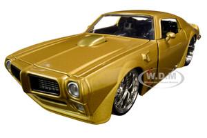 "1972 Pontiac Firebird Gold Metallic ""Hooker"" ""Bigtime Muscle"" 1/24 Diecast Model Car by Jada 31459"