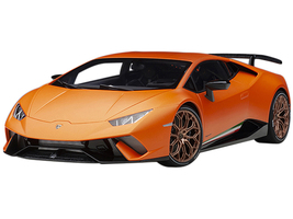 Lamborghini Huracan Performante Arancio Anthaeus Matt Orange Copper Wheels 1/12 Model Car Autoart 12076