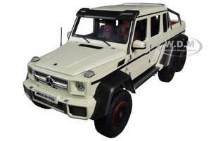 Mercedes Benz G63 AMG 6x6 Designo Diamond White Carbon Accents 1/18 Model Car Autoart 76307