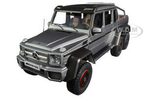 Mercedes Benz G63 AMG 6x6 Designo Platinum Magno Carbon Accents 1/18 Model Car Autoart 76308