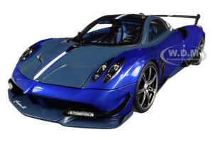 Pagani Huayra BC Blu Francia Candy Blue Carbon Accents 1/18 Diecast Model Car Autoart 78277
