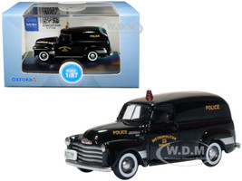 1950 Chevrolet Panel Van Black Metropolitan 13 Police Washington DC 1/87 HO Scale Diecast Model Car Oxford Diecast 87CV50002