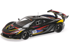 McLaren P1 GTR #11 Black Stripes James Hunt 40th Anniversary 1/18 Diecast Model Car Almost Real ALM840108