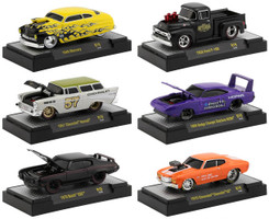 Ground Pounders 6 Cars Set Release 19 DISPLAY CASES 1/64 Diecast Model Cars M2 Machines 82161-19