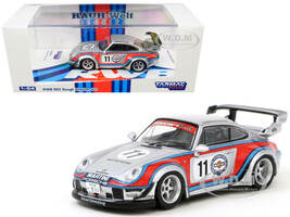 Porsche RWB 993 #11 Rough Rhythm Martini International Club Kamiwaza Racing WebStore Special Edition RAUH-Welt BEGRIFF 1/64 Diecast Model Car Tarmac Works T64-017-MA