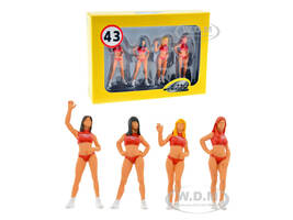 Hawaiian Tropic Girls Set of 4 Figurines 1/43 Model Cars Le Mans Miniatures 43003M