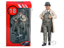 1930's Ettore Bugatti Raincoat Figurine 1/18 Scale Model Cars Le Mans Miniatures 118035