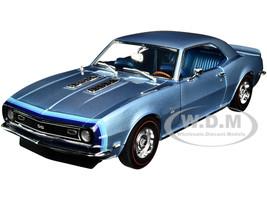 1968 Chevrolet Camaro SS Unicorn Grotto Blue Metallic Blue Interior D88 Stripes Limited Edition 438 pieces Worldwide 1/18 Diecast Model Car ACME A1805717