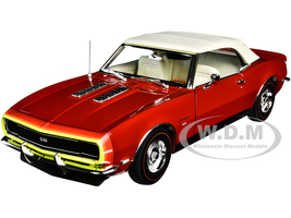 1968 Chevrolet Camaro SS Unicorn Convertible Matador Red White Top D88 Stripes Limited Edition 456 pieces Worldwide 1/18 Diecast Model Car ACME A1805718