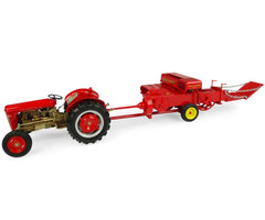 Set of 2 pieces 1957 Massey Ferguson 35 Deluxe Tractor 1957 Massey Harris No 3 Trail Baler Limited Edition 1200 pieces Worldwide 1/32 Diecast Models Universal Hobbies UH5238