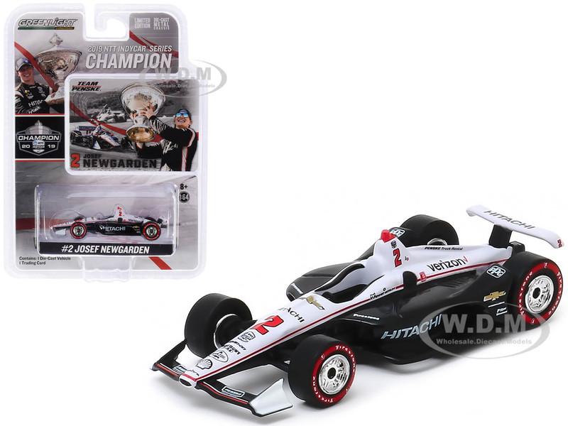 Dallara Indy Car #2 Josef Newgarden Hitachi Team Penske NTT IndyCar Series Champion 2019 1/64 Diecast Model Car Greenlight 10858